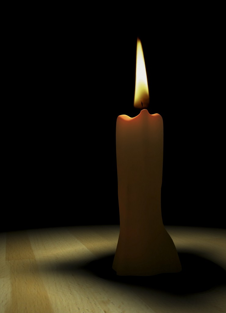 3d rendering / candle light close-up